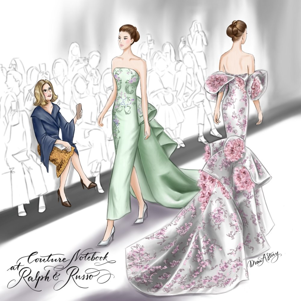 Paris Couture Week  - Reviews - Directly from Paris, every January and July.. .Catwalk reviews, behind the scenes photos, interviews with designers and more.Illustration by @draw.a.story