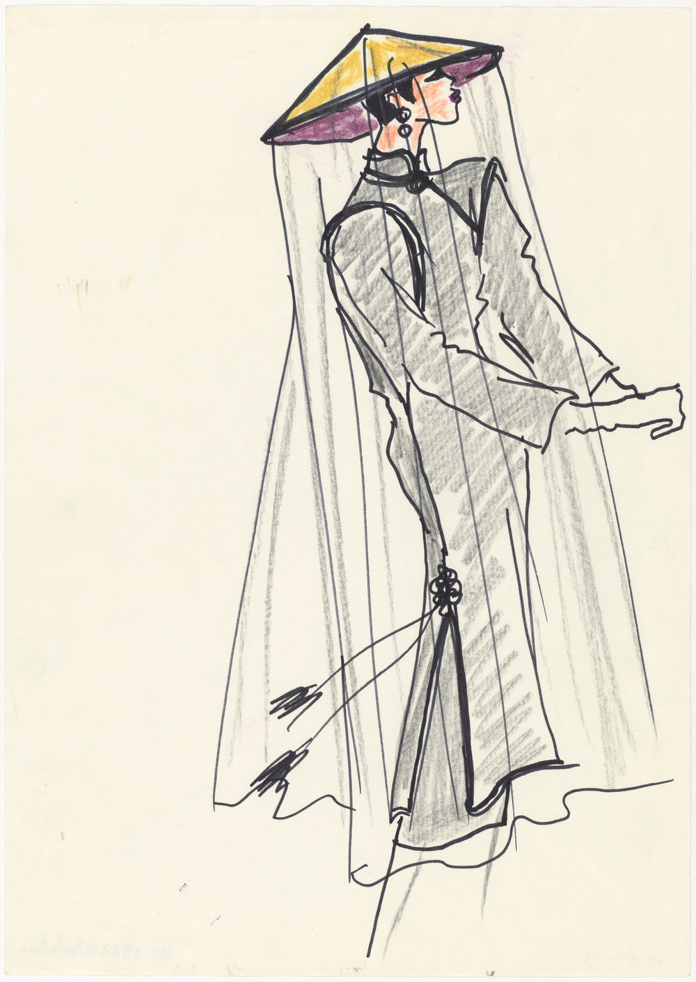 03 - Croquis d'illustration pour la collection haute couture automne-hiver 1977, Musée Yves Saint Laurent Paris © Fondation Pierre Bergé - Yves Saint Laurent _ Tous droits réservés.jpg