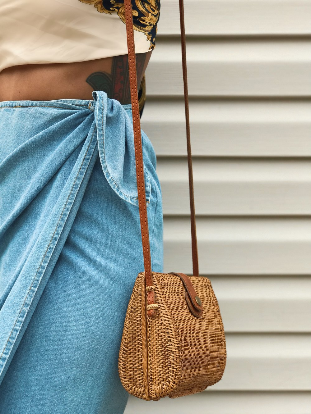 Obsessed with rattan bags!