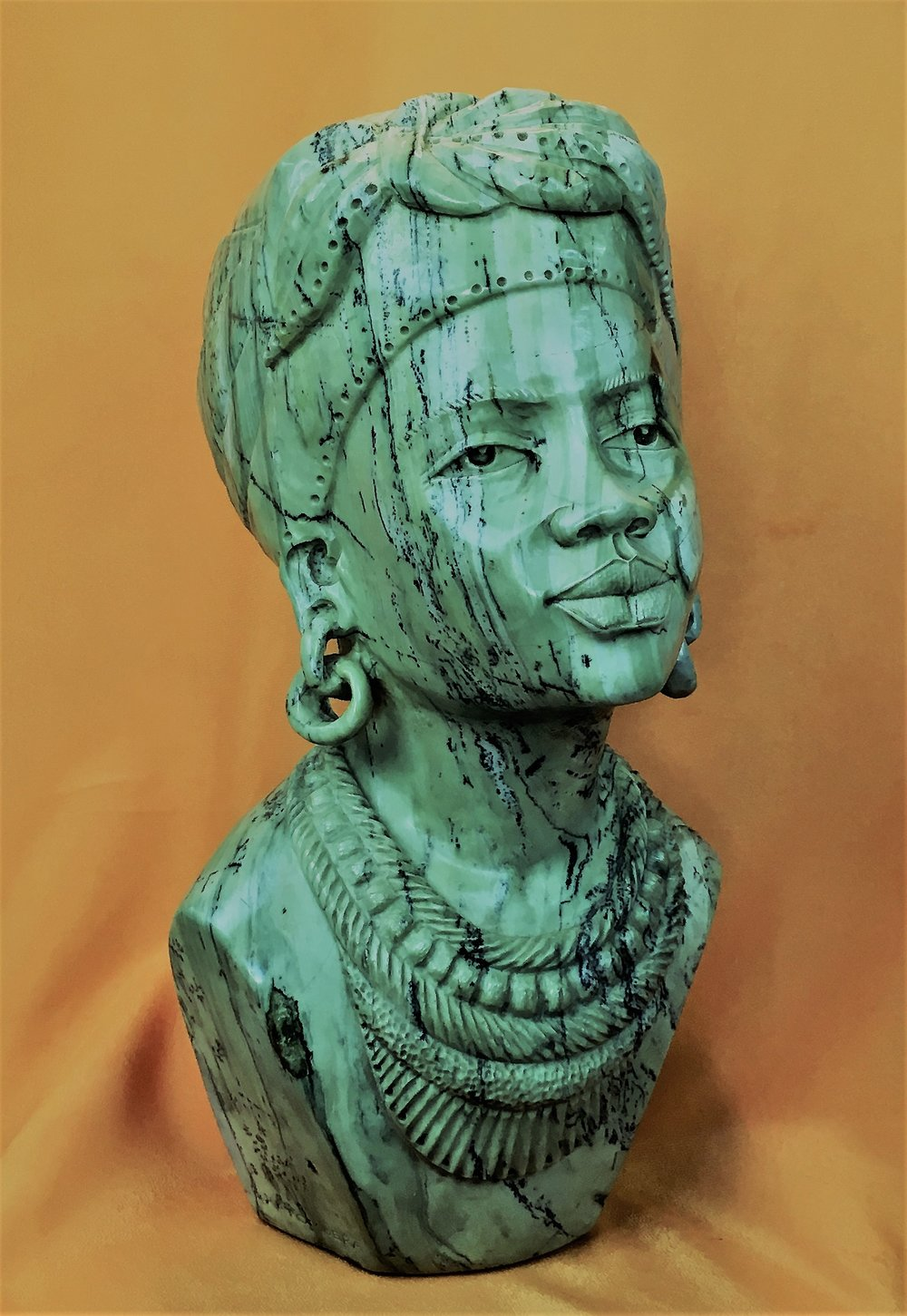 Shona stoneLarge Female Butter Jade by E. Katombera