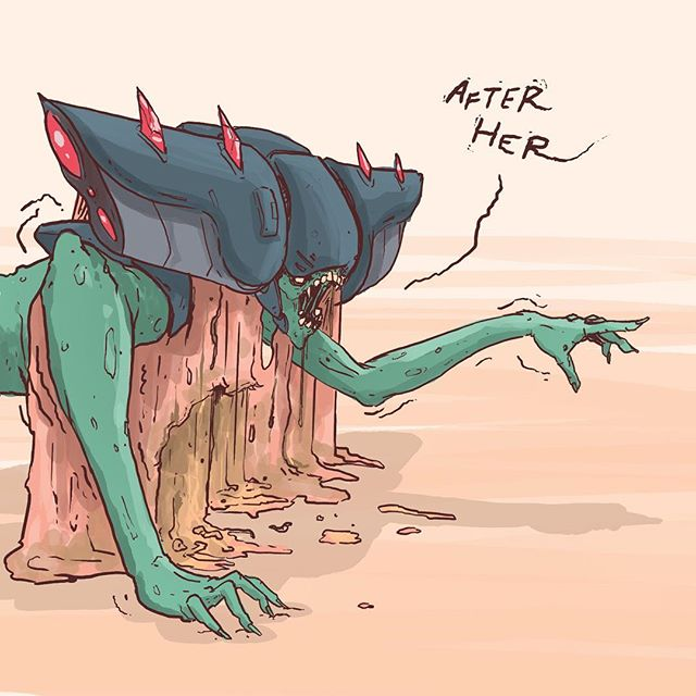 Weak // Inktober Day 15: An alien I came up with for the comic who in this situation, is having a very bad day!!! . . . . . . . #inktober #inktober2018 #characterart #conceptart #comiccon #comicart #digitalart #gameart #independentcomics #manifestfuturecomic #derekwk #denverartist #alien #creature #creatureart #comicbooks #alienart #gross #videogames #videogameart