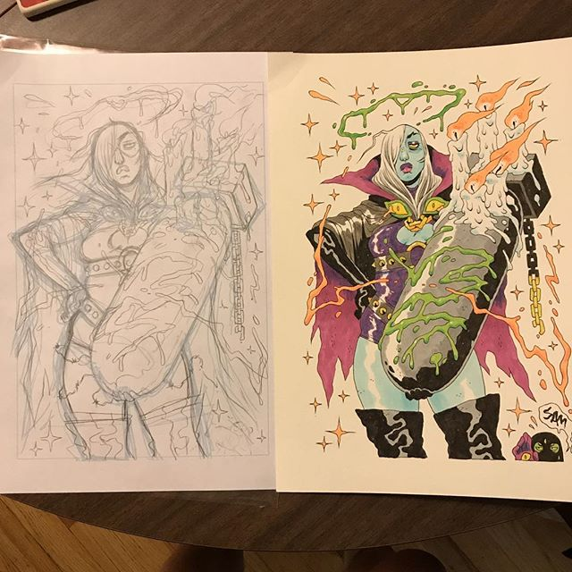 Original sketch too!! Just opened it up further and am truly impressed/stoked!! Thanks again!! @ohnosam