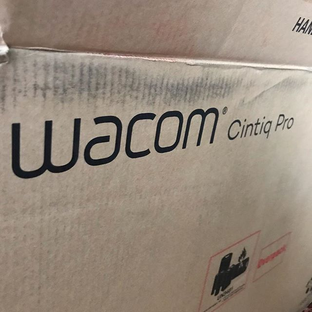 HOLY SHIT!!! My birthday and Christmas for the rest of my life. Been wanting/needing one of these for years!! Thanks Mom!!! . . . . . . . #wacom #dreammachine #digitalart #drawingtablet #drawing #illustration #upgrade #cintiq