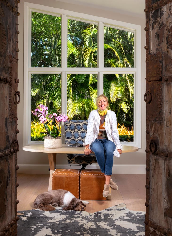 Kelder Designs Naples Florida Pam Elder Sitting