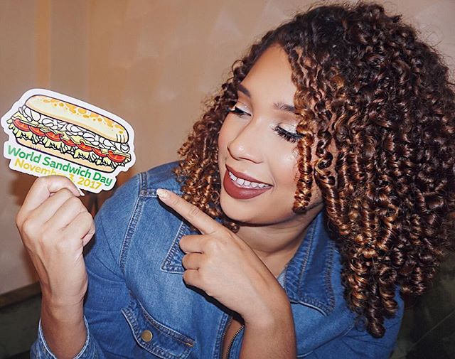 If you know me you know that sandwiches are one of my favorite meals. I could live off of sandwiches and a side of chips for the rest of my life if I had to which is why I'm extra hype to be celebrating #WorldSandwichDay tomorrow with my friends at @Subway. Not only are they hooking you up with a free sandwich but they are also giving back to Feeding America® and addressing the serious issue of food insecurity for the second year in a row by helping to fight hunger in the U.S. . Tomorrow be sure to head to your nearest Subway and purchase any sandwich and a 30 oz. drink and you will get a free sandwich of equal or lesser value, plus @Subway donates a meal to @FeedingAmerica. Yasssss to giving back while getting a free sandwich! 💛👏🏾 #partner #NationalSandwichDay