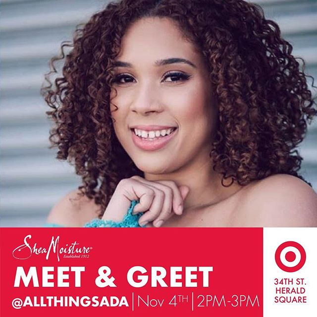 Mis Amores! I'm not sure what your plans are this Saturday but I hope you will come down to the NEW @Target in 34th street from 2-3PM so I can give you the biggest hug and kiss on the cheek during my meet and greet with @sheamoisture. Tag your bestie below and come through! See you Bellas on Saturday!!! 💖 #ad #sheamoisture #target