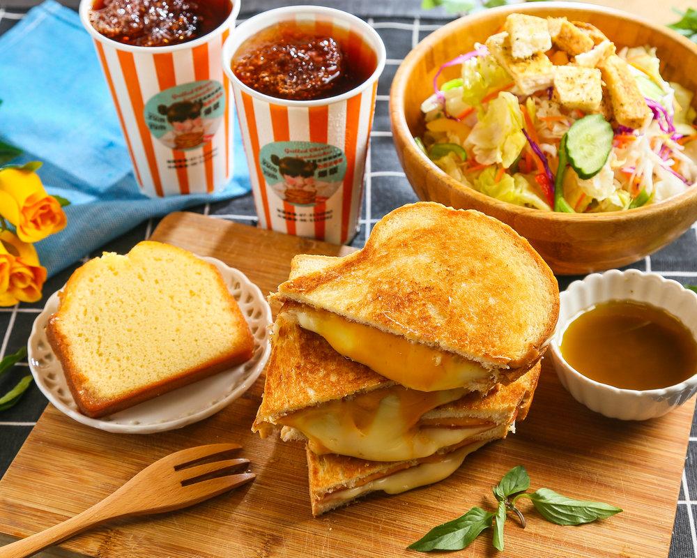 熱樂煎爆漿乳酪三明治 -