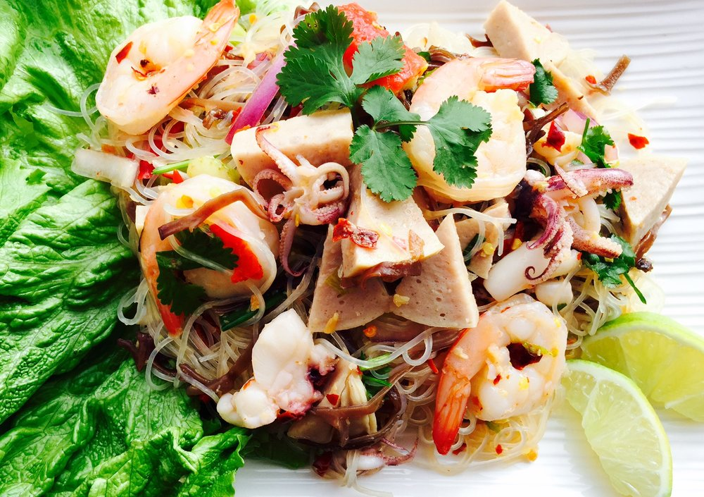 Seafood and Bean Thread Noodle Salad