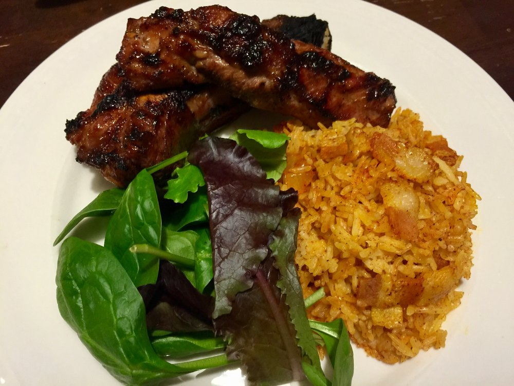 Island BBQ Ribs and Red Rice