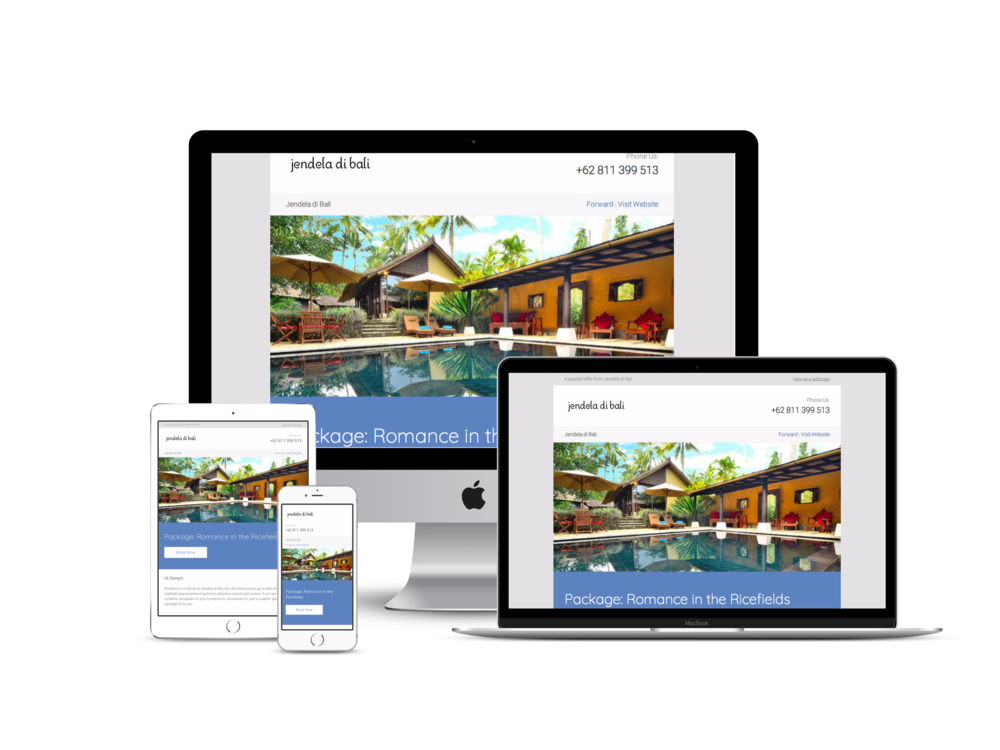 Guestily promotion emails use the smart Guestily Template, tailored to your property and viewable on all devices.