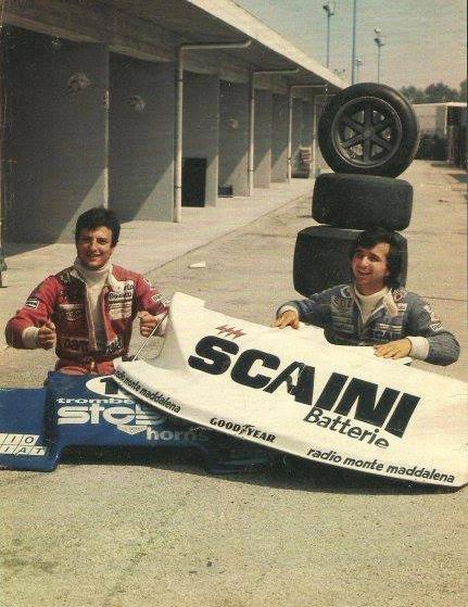Riccardo with Bruno Giacomelli