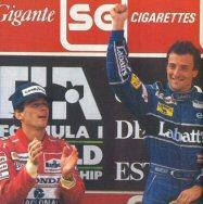 Senna applauds Patrese