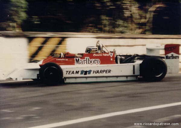 Riccardo took the Team Harper Marlboro-March to 2nd place at Macau [photo provided by Carlo Fiorentini]