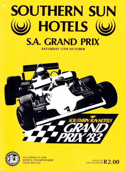 1983 South African GP programme