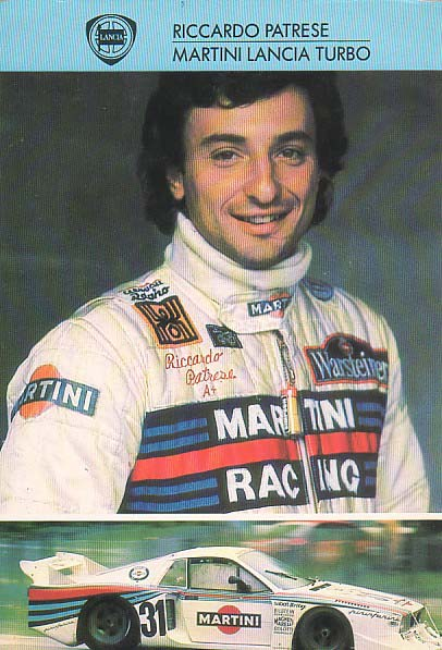 Lancia Martini Racing card