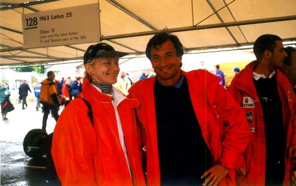 Joanna Cardwell-Fox with Riccardo at the 1998 Festival of Speed