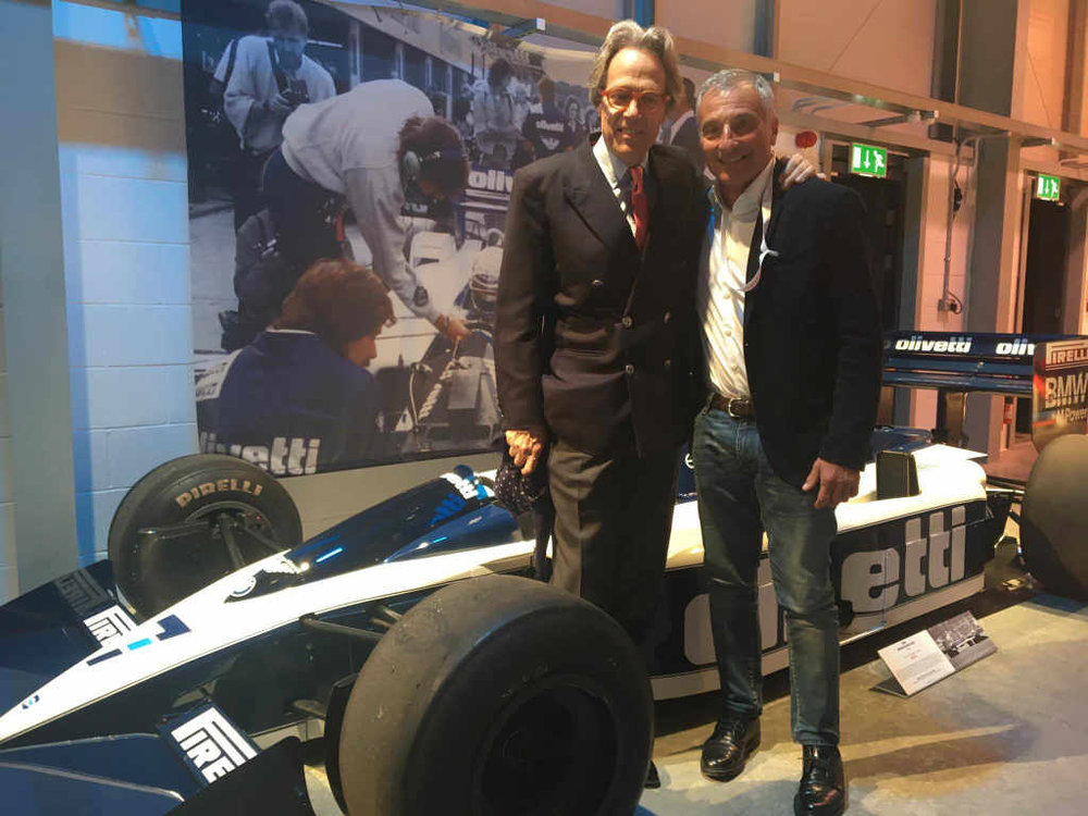 With Lord March and the Brabham BT55-BMW