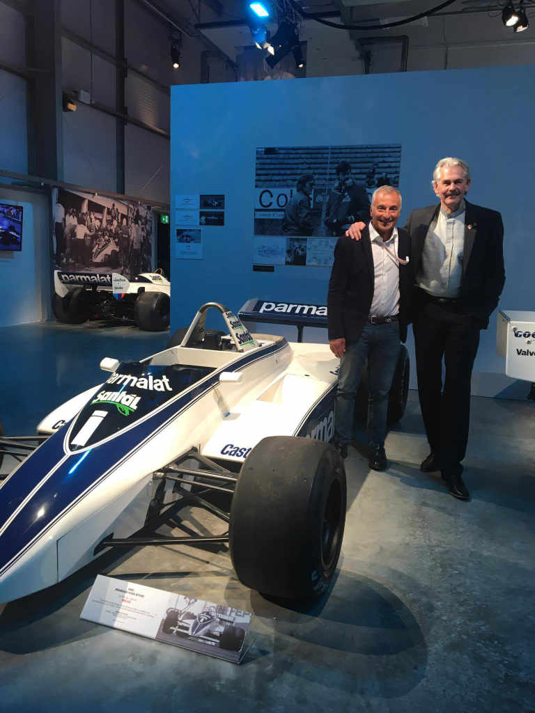 Riccardo with Gordon Murray and the Brabham 1982 BT50-BMW