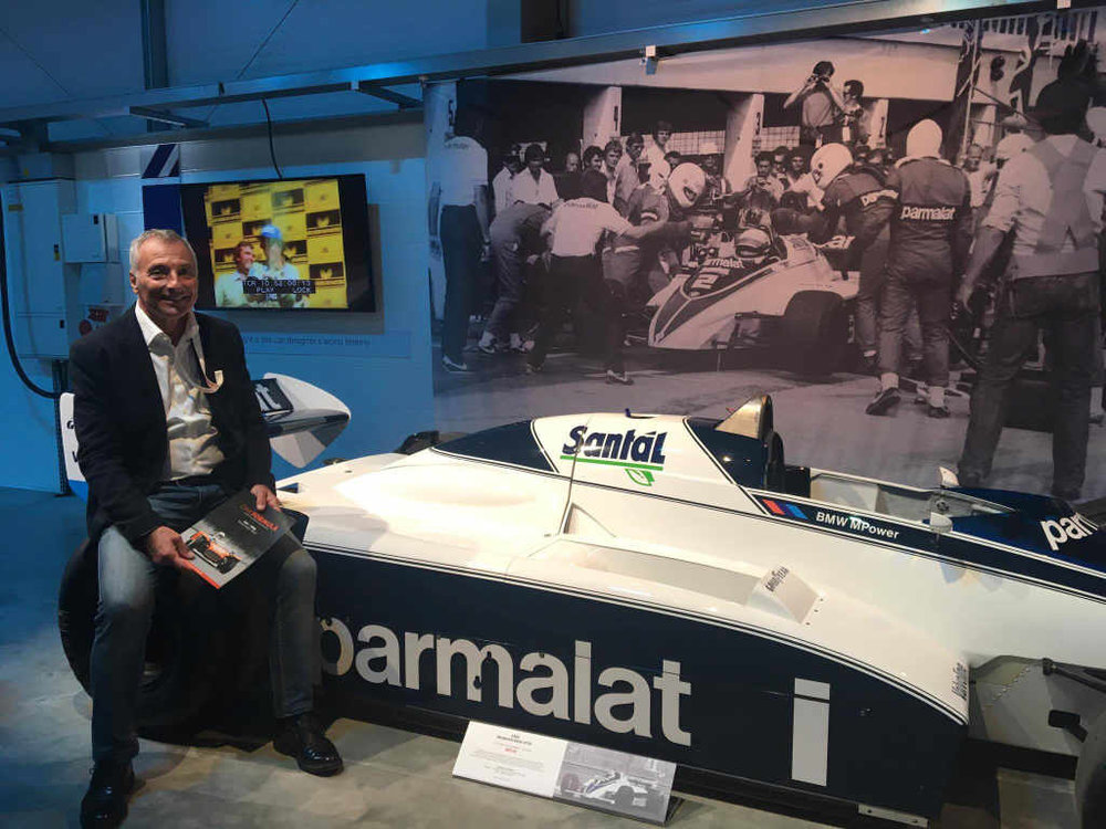 With the 1982 Brabham BT50-BMW, with which Riccardo made the first scheduled pit-stop in modern F1