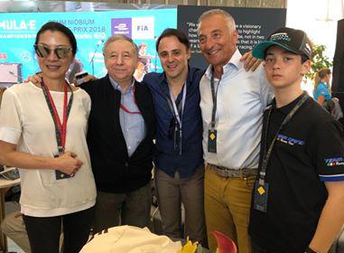 Michelle Yeoh, Jean Todt and Felipe Massa
