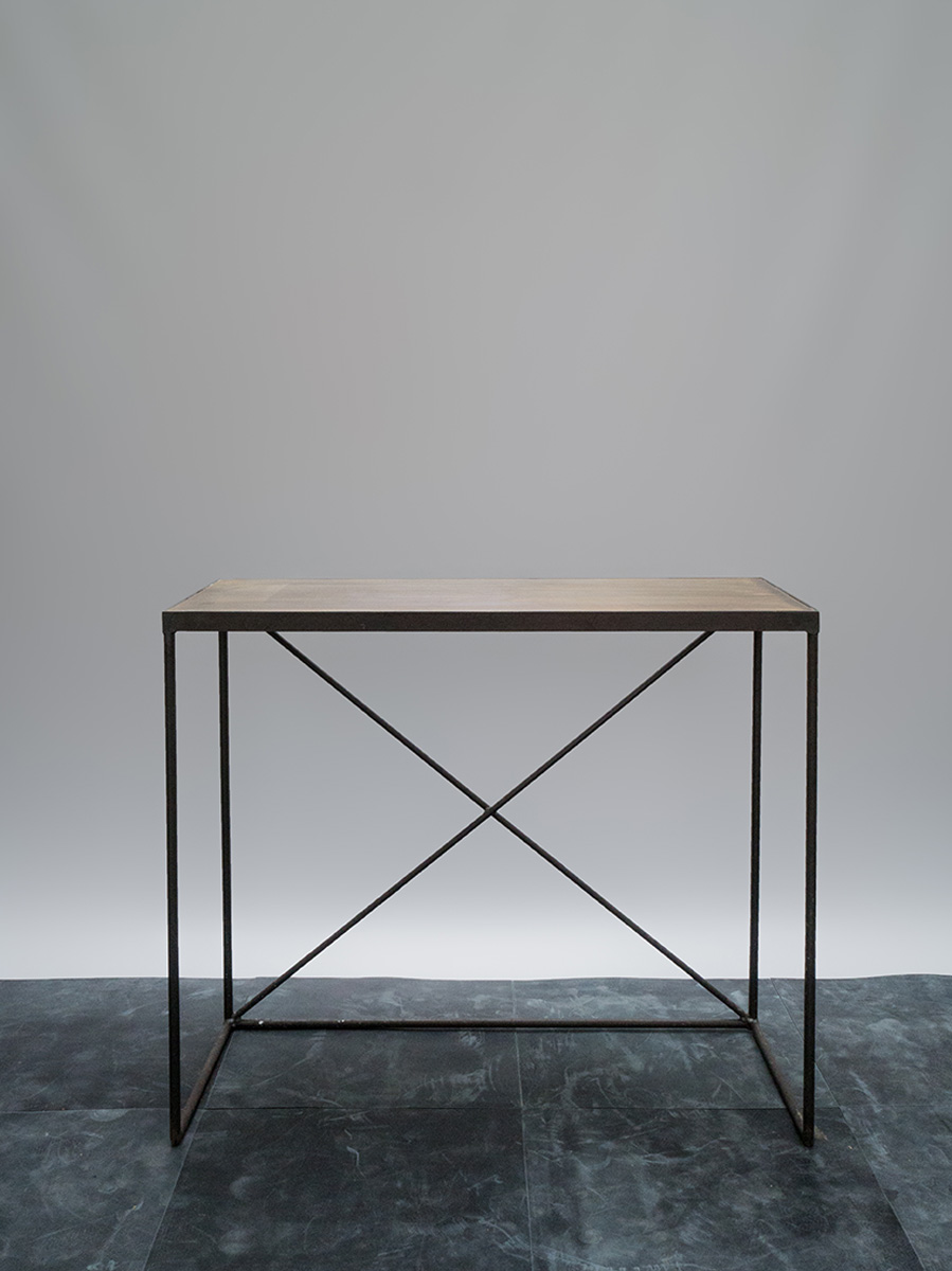 Browned Brass Console Table