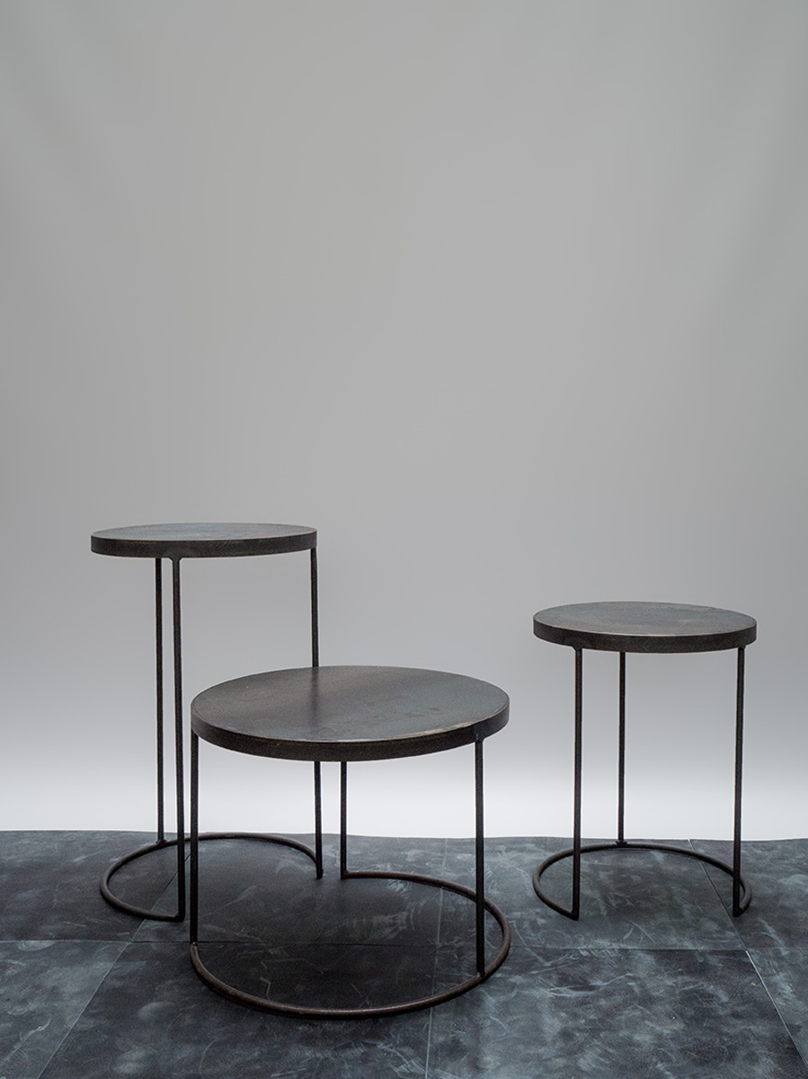 Iron Circle Side Table