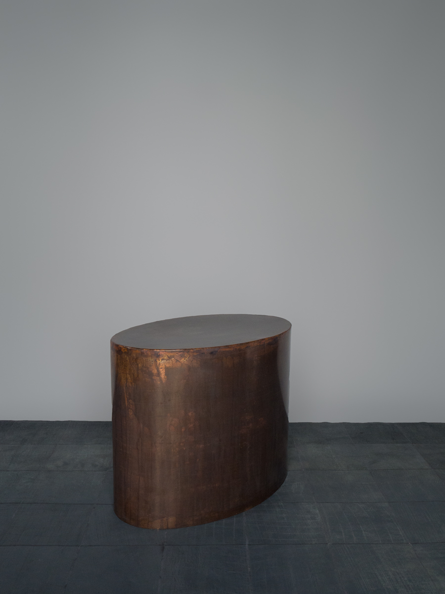 Burnished Copper Side Table
