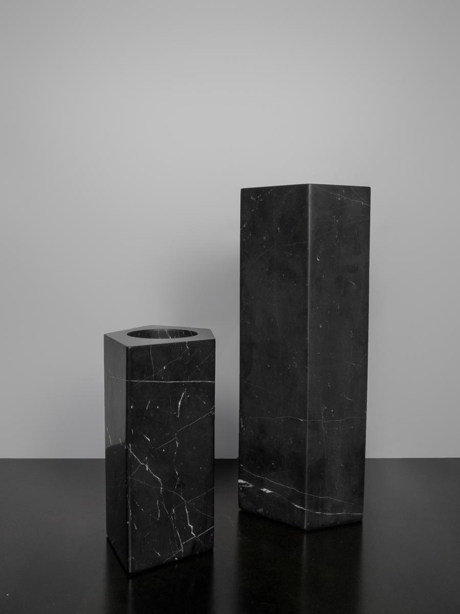 Pentagon Marble Vases