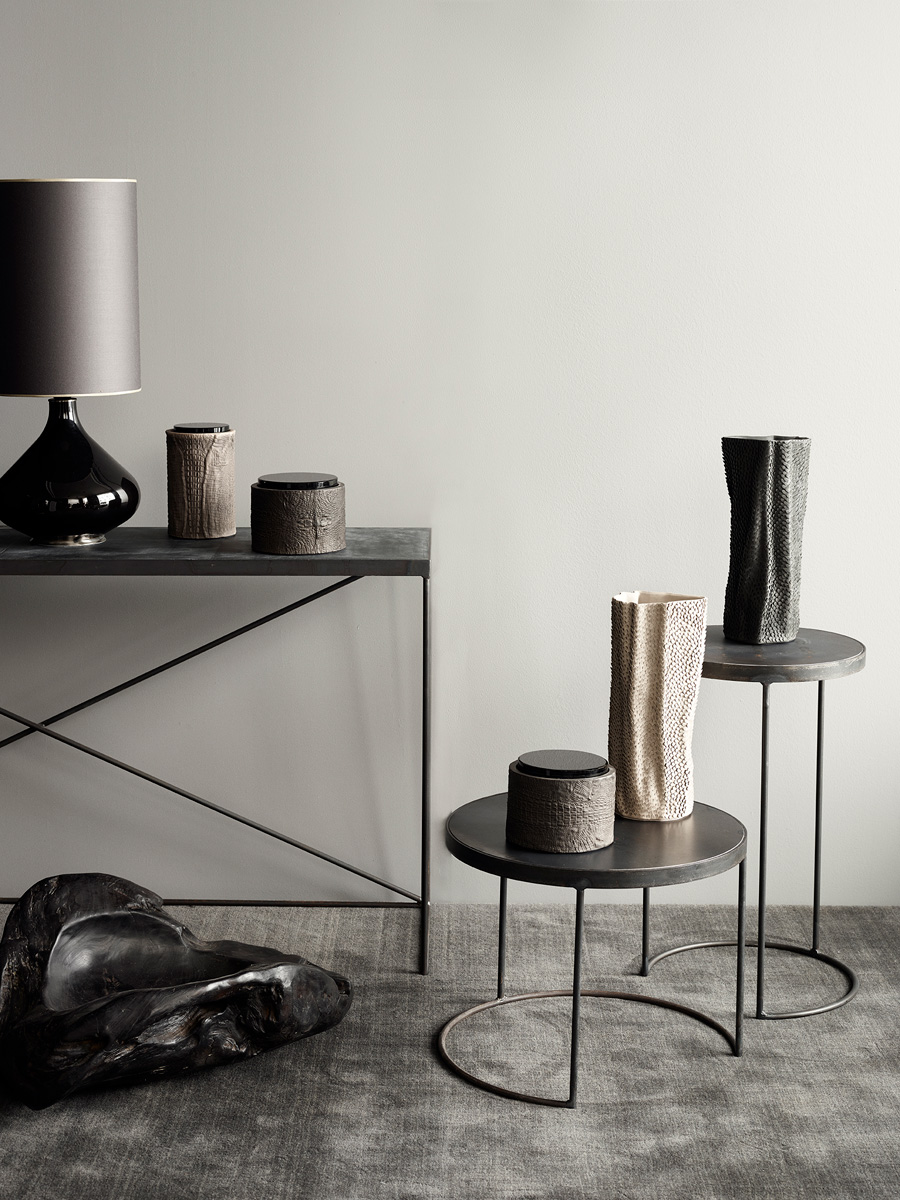 Arrondissement Iron Table & Flavia Lamp