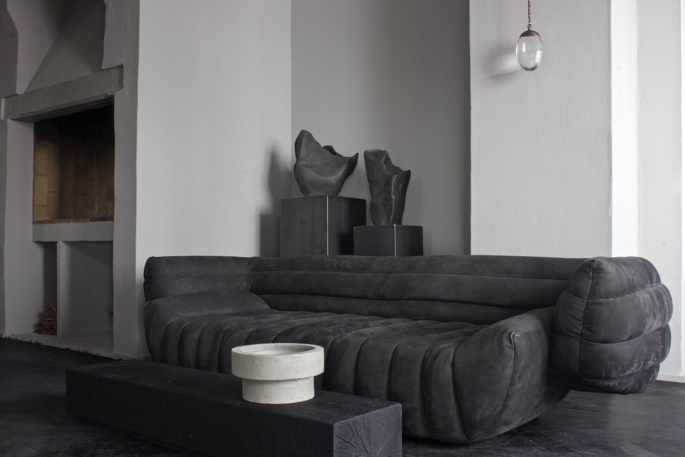 Tactile Sofa and Pangolin Vases