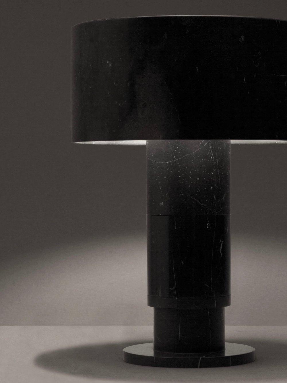 Rue Verte Black Marble Table Lamp