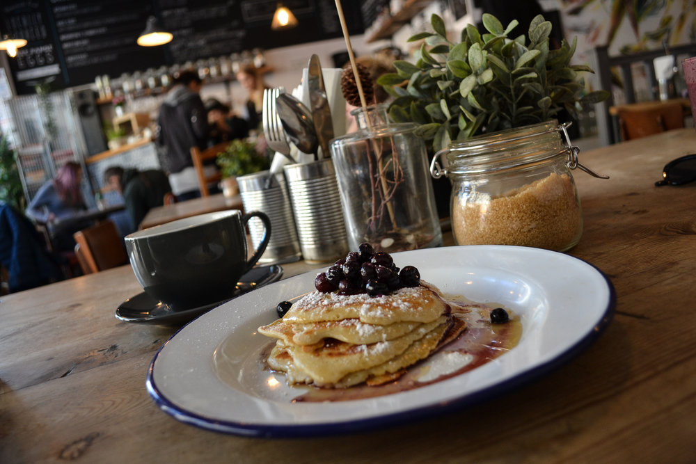 The Crafty Egg - Blueberry pancakes