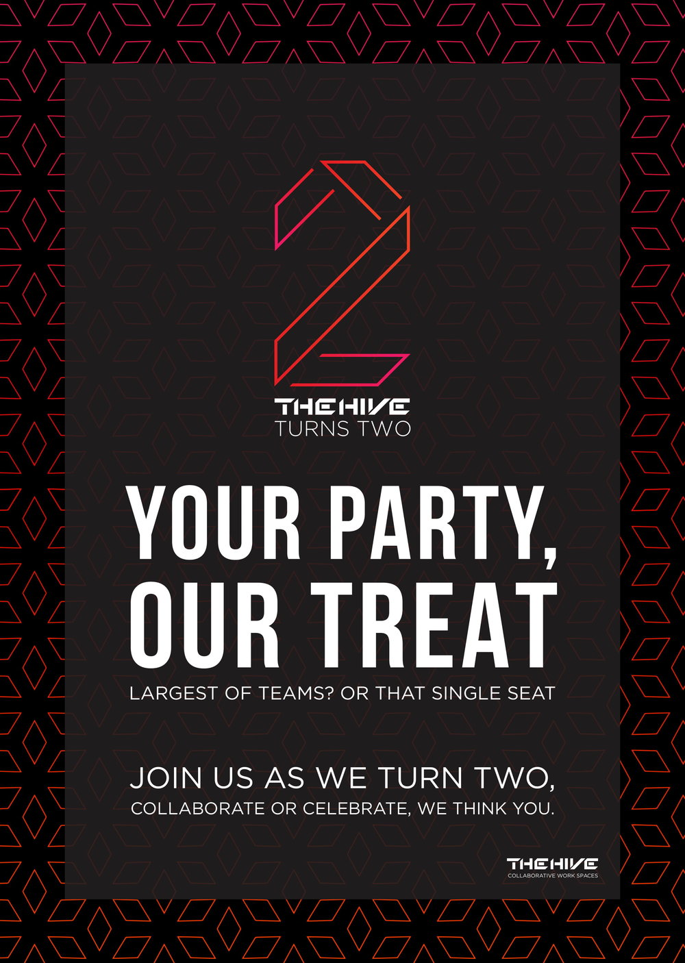 As we turn two . . . there is no one else we want to celebrate this with . . . as much as you!