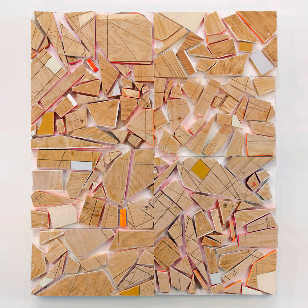 PS11Q After School Special,  2015, acrylic and enamel on wood, 55.5 x 48 x 3.25 in_front