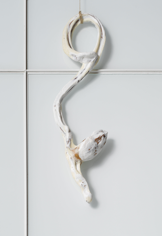 Transgenic, (2018), Wax and organic material, 26 x 9 x 3.5 inches