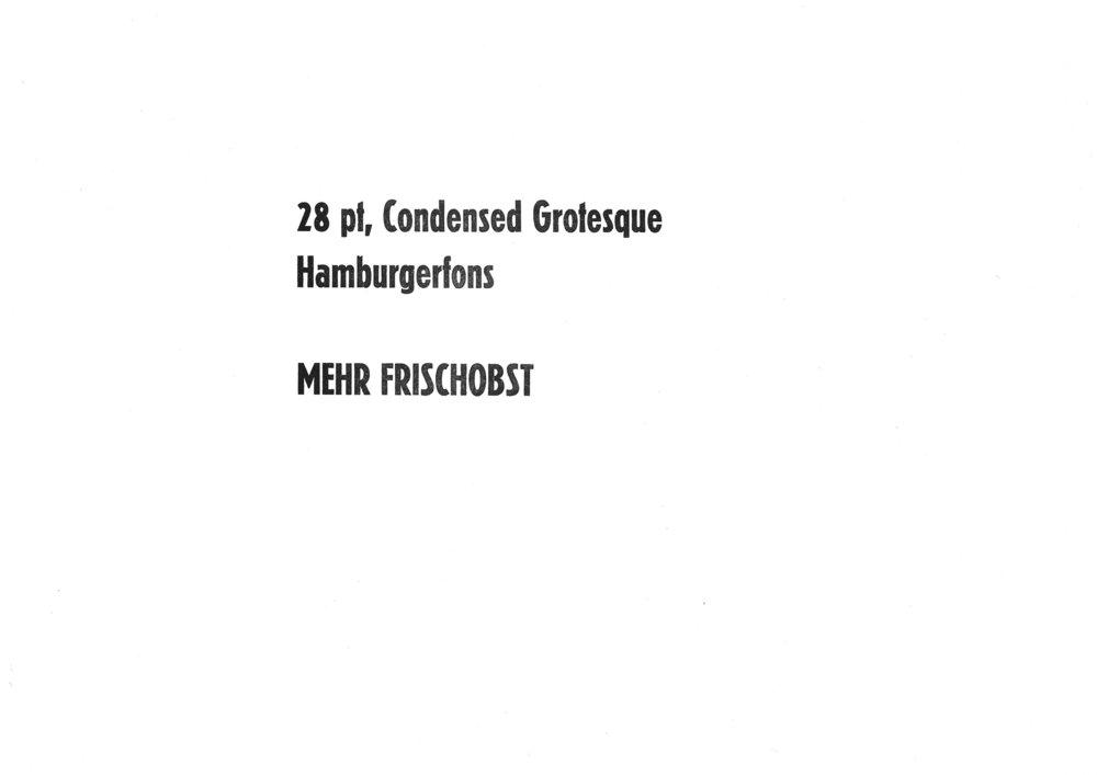 28pt. Condensed Grotesk