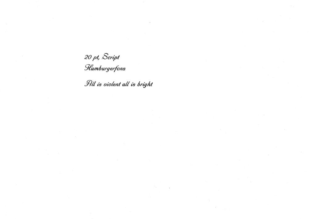 20pt. Script