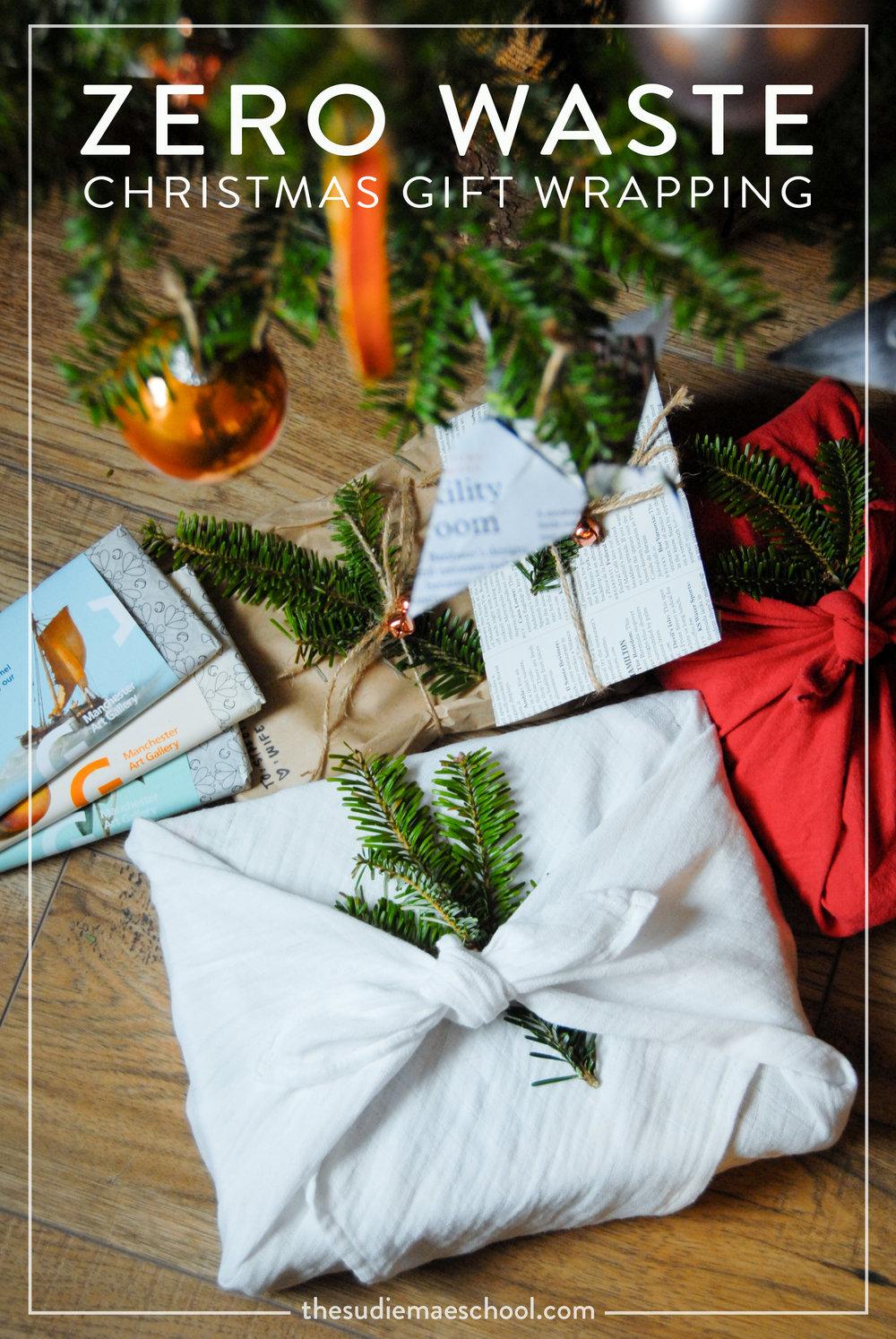 Zero Waste Christmas Gift Wrapping