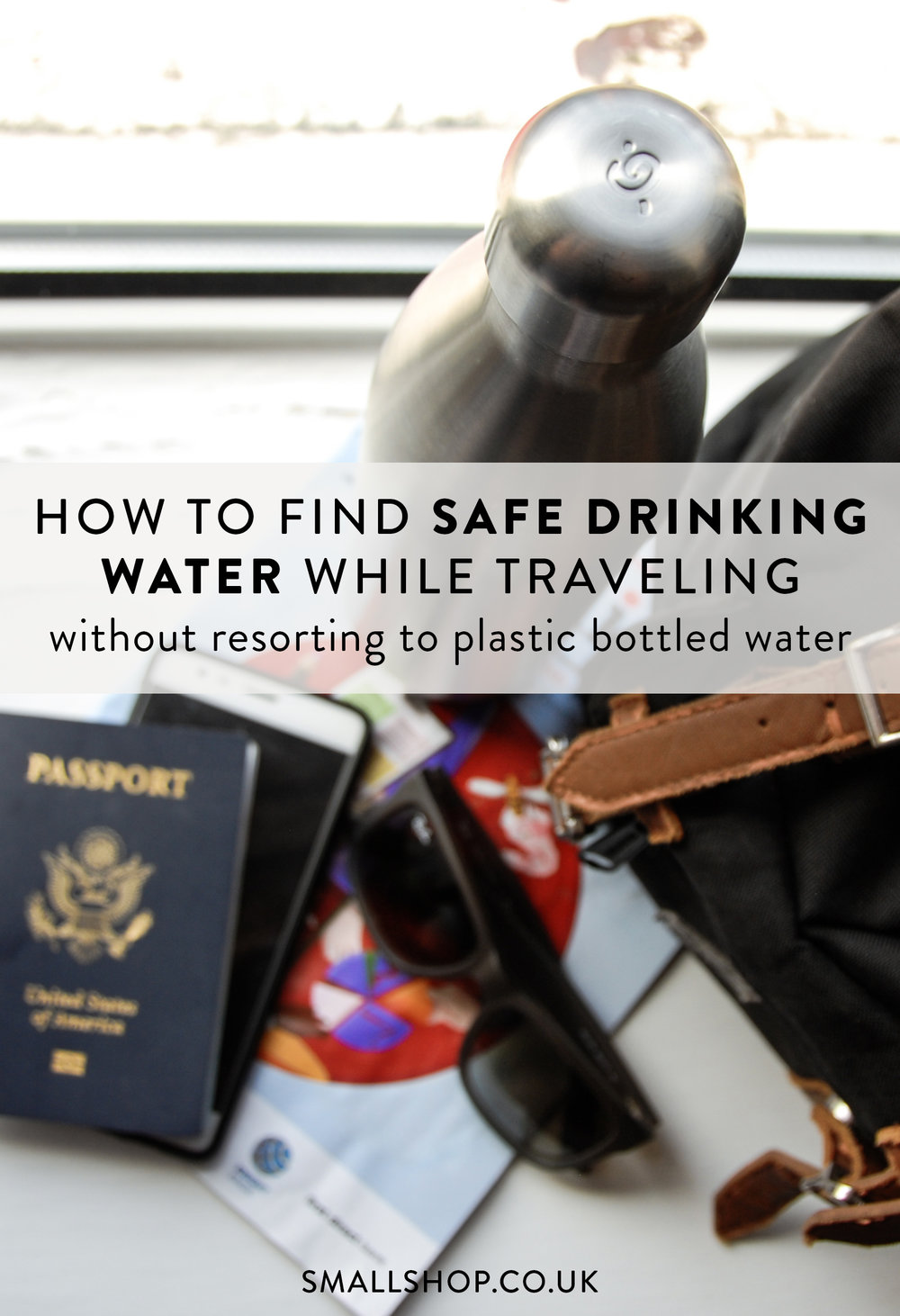 How to find safe drinking water while traveling without resorting to plastic bottled water