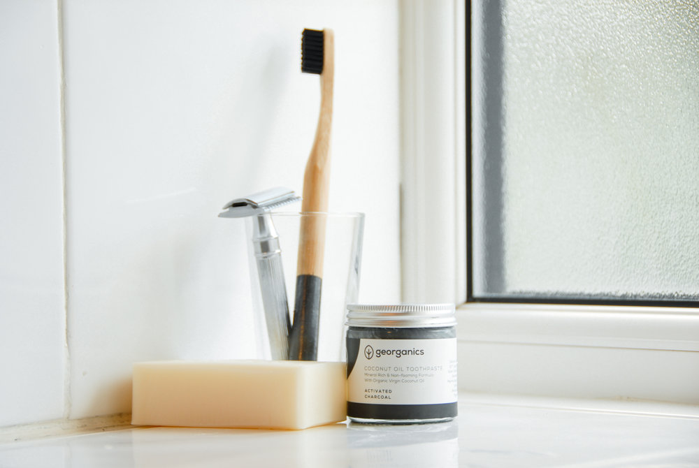 4 Easy Swaps for a Plastic Free Bathroom - The bathroom can be a surprising source of plastic waste. Check out our top four suggestions for zero waste swaps in the bathroom (it's about more than just bamboo toothbrushes!).