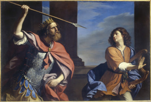 Saul attempts to kill David with a spear , 1646, Palazzo Barberini, Rome