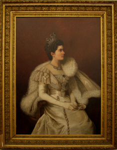 Portrait of Princess Elena of Savoy,  Francesca Gambacorta Magliani