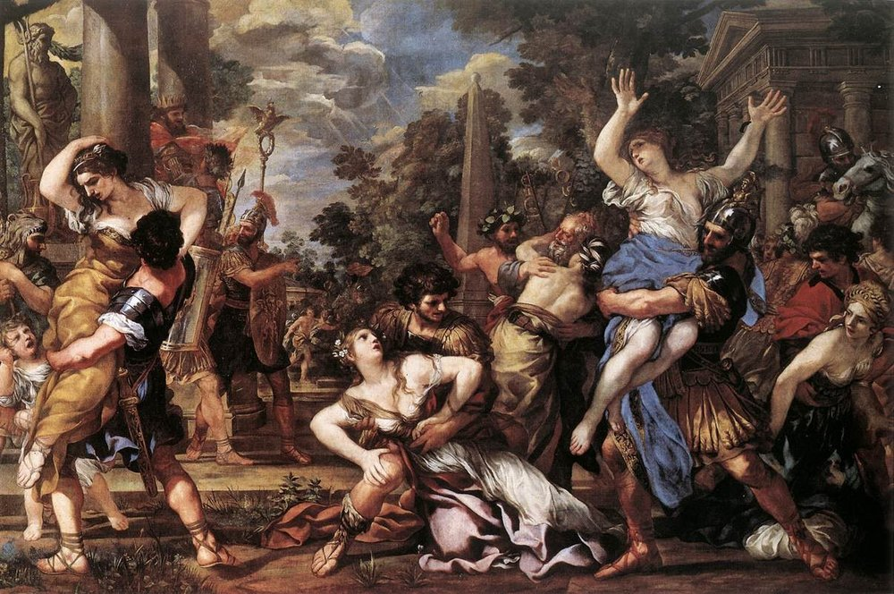 Il Ratto delle Sabine , Pietro da Cortona, Capitoline Museums  [Source]