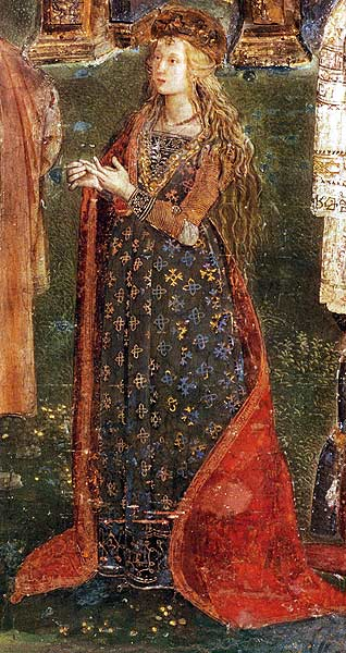 Portrait of Lucrezia Borgia (detail of The Disputation of St. Catherine), Pinturicchio, Borgia Apartment, Vatican Museums  [Source]