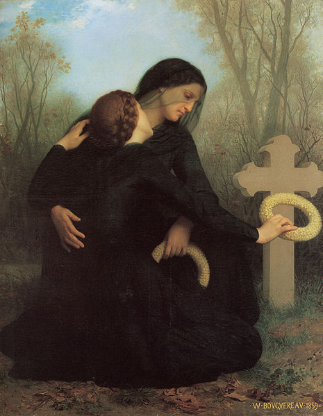 All Souls' Day,  William Adolphe Bouguereau,  [ Source ]