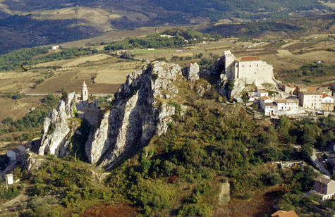 The mountain village of Bagnoli del Trigno, in the province of Isernia in the region of Molise in south-central Italy