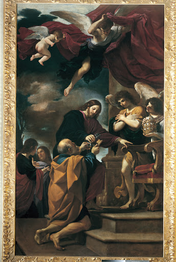 St. Peter receives the keys, 1618, Pinacoteca Civica, Cento
