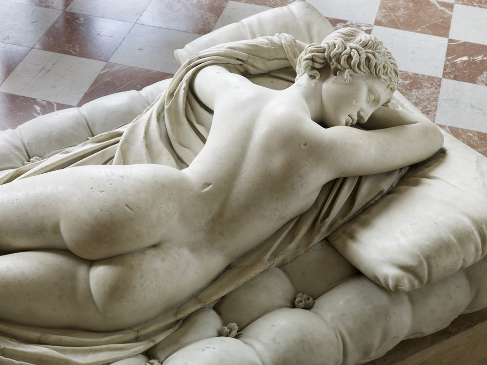 Detail of Sleeping Hermaphrodite. First half of 2nd century AD. Restored by Gian Lorenzo Bernini and David Larique. Louvre Museum, Paris. © Musée du Louvre, Thierry Ollivier