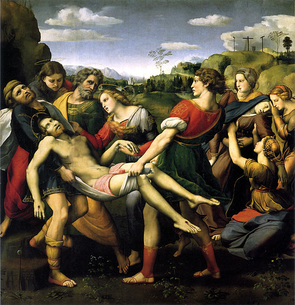 The Deposition , Raphael, 1507, Galleria Borghese, Rome