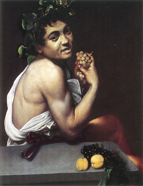 Sick Bacchus , Michelangelo Merisi da Caravaggio, 1593-1594, Galleria Borghese, Rome